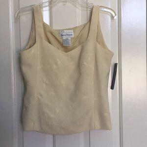 NEW RENA ROWAN size 8 yellow sleeveless